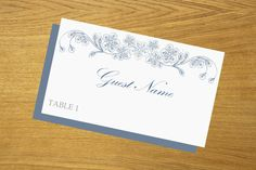 Wedding place card DIY place card template by WeddingTemplatesHub