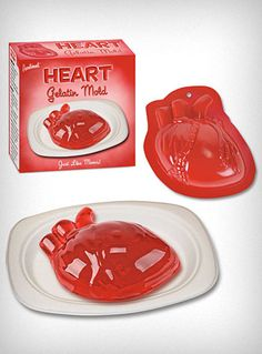 Eat Your Heart Out Jello Mold  $9.00 #halloween #kids #party #food #ideas