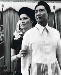 Philipinese dictator Ferdinand Marcos and wife Imelda. Ferdinand, People Power Revolution, Philippine Army, Barong Tagalog, President Of The Philippines, Thriller Novels, Greatest Presidents, Power To The People