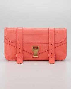 PS1 Pouchette Clutch Bag, Deep Coral by Proenza Schouler at Bergdorf Goodman.