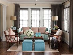 Living Room layout/mix of feminine and masculine colors