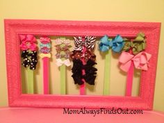 DIY Hair Bow Holder Tutorial ~ That Used To Be a Picture Frame?!