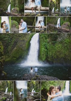 Wahclella Falls Engagement Session, Oregon Elopement Photographer, Waterfall Engagement Session, Shannon Hager Photography
