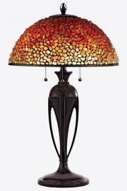 Quoizel Pomez Tiffany Table Lamp with Agate Stone Shade - Tiffany Stained Glass, Stained Glass Lamps, Tiffany Glass, Leaded Glass, Tall Table Lamps, Tiffany Table Lamps, Lamp Table, Desk Lamp, Art Nouveau
