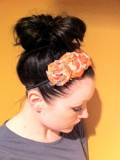 Pin It If you asked me to describe my personal style, I would have a really hard time answering you. At the office, I like more of a J. Fabric Flower Headbands, Fabric Flowers, Diy Flowers, Faux Flowers, Pretty Flowers, Paper Flowers, Pretty Hairstyles, Cute Hairstyles, Diy Beauty