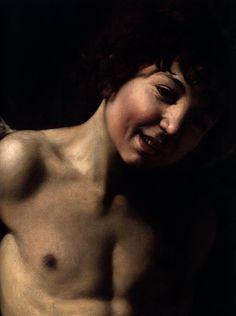 """Detail from Caravaggio's """"Amor Victorious"""", 1602-03."""