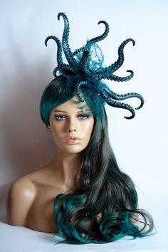 Undersea Creature Headpieces - StraightLacedSF on Etsy Makes Magical Sea Goddess Headpieces