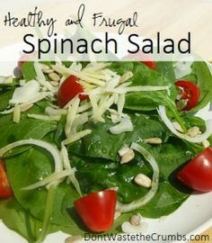 Healthy and Frugal Spinach Salad, feed a crowd
