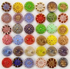 Vintage and Antique Gorgeous Glass Buttons