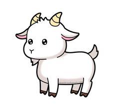 cartoon animals Cartoon goat from Easy Animal Drawings, Cartoon Drawings Of Animals, Cute Cartoon Animals, Kawaii Drawings, Easy Drawings, Cartoon Art, Cute Cartoon Characters, Goat Cartoon, Goat Art