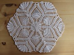 Table Doilies | Crocheted Table Mat Pineapple Doily Shabby Chic Country Decor Cottage ...