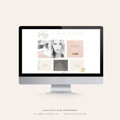 Custom Website Design and Development by Mel Volkman Wordpress Web Design Blog Design Custom Blog ECommerce Makeup Artist Brand Beauty Brand Beauty Website