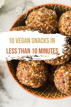 Looking for quick and yummy vegan snacks that aren't fruit or fast food? These tips will inspire you to create something healthy and tasty to nibble on at home or take with you to work. Yummy Vegan Snacks, Vegan Snacks On The Go, Healthy Snacks, Tasty, Lunch, Inspire, Fruit, Create, Breakfast