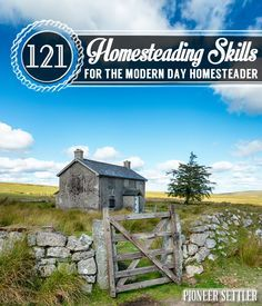 121 Homesteading Skills - This list of homesteading skills & ideas was compiled to help current homesteaders and inspire urban homesteaders in their long journey to self-sufficiency. Homestead Survival, Homestead Farm, Homestead Gardens, Homestead Living, Farms Living, Camping Survival, Survival Prepping, Survival Skills, Survival Gear