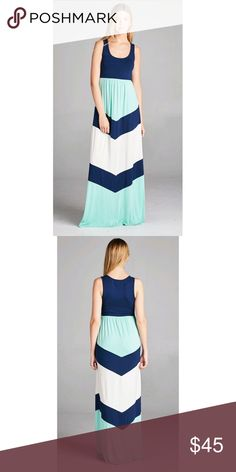 Blue Maxi Dress This adorable dress is calling your name! Cool breeze and colorful 😊 True to size! Dresses Maxi