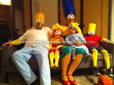 Coolest Simpson Family Group Halloween Costume... This website is the Pinterest of costumes