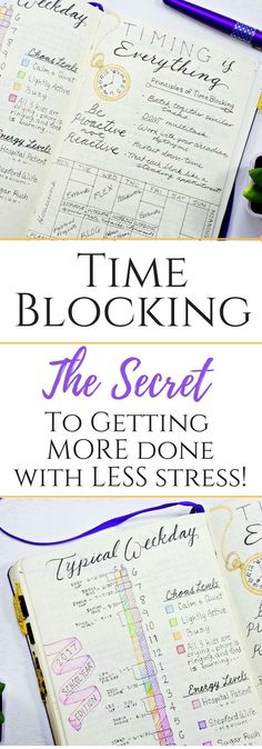 Time Blocking: The Ultimate Guide to Getting More Done with Less Stress! Learn some helpful tips and tricks on time blocking so you can better manage your time and take the necessary steps to achieve your goals!