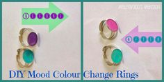 Get a little groovy and make your own: DIY Mood / Colour Change Rings. The girls love them and they're such a fun easy gift, stocking stuffer or party favour