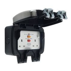 BG Storm 2 Gang 13 Amp Outdoor Switched Socket with RCD IP66 WPL22RCD-01
