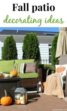 Fall outdoor tour + patio decorating ideas - Green With Decor