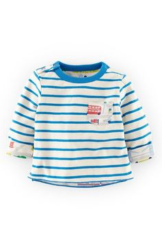 """Free shipping and returns on Mini Boden Reversible Print T-Shirt (Baby Boys) at Nordstrom.com. <p><B STYLE=""""COLOR:#990000"""">Pre-order this style today! Add to Shopping Bag to view approximate ship date. You'll be charged only when your item ships.</b></p><br>A versatile T-shirt switches from an eye-catching print to classic stripes with a playful contrast pocket to complete the undeniably dashing style."""