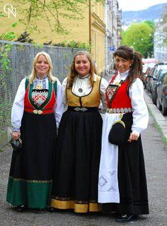 Norwegian bunad traditional costumes