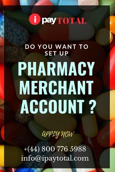 Finding a best online pharmacy merchant accounts can be quite difficult as some acquiring banks can regularly adopt a lukewarm approach. Ipaytotal, however, has offshore banking solutions for pharmacy merchants whether they be e-commerce, POS or MOTO.  Applying For An IPAYTOTAL Pharmacy Merchant Account Is Easy We prefer to have a discussion with pharmacy merchants to begin.