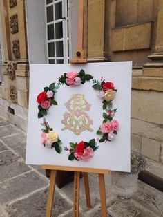 Tableau mariage initiales