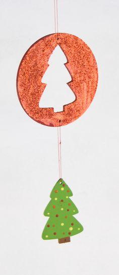 Papier Mache Designs/Paper Shapes, Flat ornament Bell 2 part diy - christmas decorations wholesale