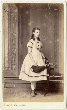 1870ish - apparently this is a photo of a girl who is actually dead! I am not convinced. Once rigor mortis set in, no dead body could be positioned like this!