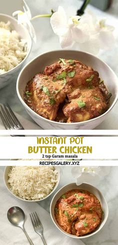 INSTANT POT BUTTER CHICKEN Chicken And Goat Cheese Recipe, Goat Cheese Recipes, Butter Chicken, Garlic Butter, Spicy Recipes, Indian Food Recipes, Vegan Recipes, Cooking Recipes, Drink Recipes