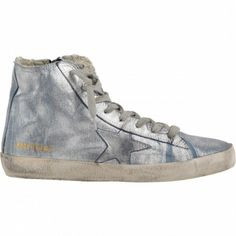 https://www.goldengoosesuperstarsneakers.com/  151 : Golden Goose GGDB Francy Hi Couples Shoes Silver BlueOIxvoaOB