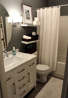 Apartment bathroom ideas apartment bathroom decor ideas small bathroom ideas for apartments small apartment bathroom ideas . Upstairs Bathrooms, Master Bathroom, Small Bathrooms, White Bathroom, Basement Bathroom, Bathrooms Decor, Decorating Bathrooms, Apartments Decorating, Small Apartment Bathrooms