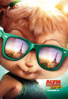 Kaley Cuoco in Alvin and the Chipmunks: The Road Chip Disney Wallpaper, Cartoon Wallpaper, Alvin And Chipmunks Movie, The Chipettes, Eleanor, Cool New Gadgets, Reflective Sunglasses, Walt Disney Studios, Cartoon Movies
