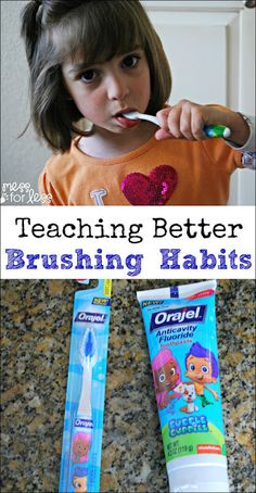 Teaching Better Brushing Habits - As kids grow they will start brushing their teeth on their own. Simple tips to teach them good habits. #ad #SmileStones