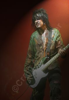 A Nikki Sixx image with a ghostly Mick Mars in the Background. #RIPMotleyCrue #TheFinalTour #MotleyCrue #MickMars #NikkiSixx