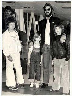 Ringo with kids Zak, Lee and Jason