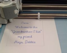 Using the writing feature of the Cricut Explore, Here you see a Pilot Precision v5 Pen being used to write. scrapmequickdesigns.com