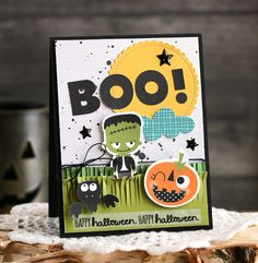"""Bella Blvd's Spooktacular Collection - """"Boo!"""" Card by Laurie Schmidlin"""