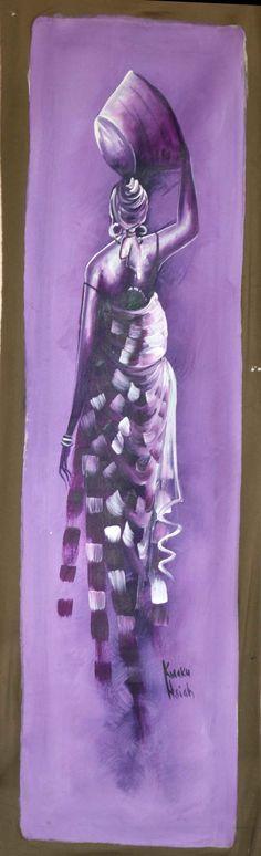 African Painting African Art Wall Decor Patio by Boriquahafrikanah, $55.00
