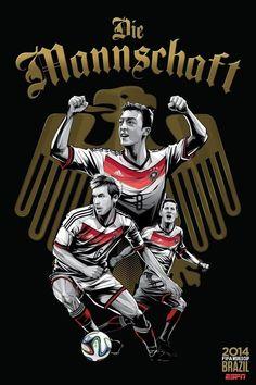 Alemanha poster copa do mundo 2014