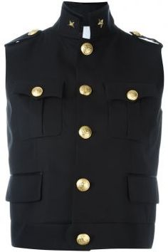 Dsquared2 'Army' Sleeveless Military Jacket https://modasto.com/dsquared/kadin-dis-giyim/br32509ct54