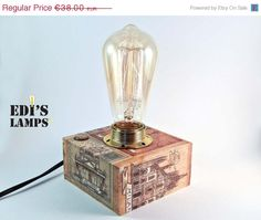 AUGUST SALE 20% off Aniversary Gifts for Him Gifts by EdisLamps