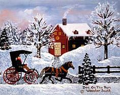 Original Oil Paintings Americana Folk Art Wooster Scott Jane