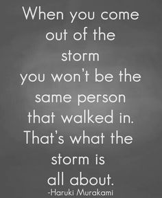 That's what the storm is about ...