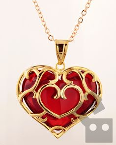 Skyward Heart container necklace- Legend of Zelda jewellery for the win!