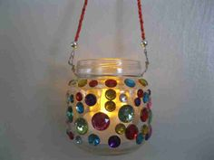 Recycled baby food jar to hanging votive holder ON SALE via Etsy