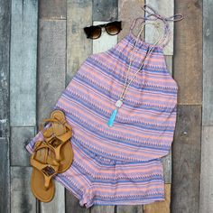 This Neon Tribal Romper in Coral is too cute for words! Such a great spring or summer look! JUST $38 at Entourage! Boho Hat, Entourage, Summer Looks, Coral, Girly, Rompers, Neon, Women's Fashion, My Style