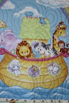 Precious Moments Noah's Ark Quilt Crib/Lap/Wall by carsondesign ... : precious moments quilt - Adamdwight.com