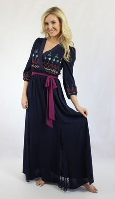 A boho winter maxi dress! Love